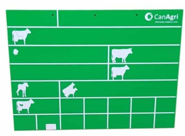 Tablica dla krów